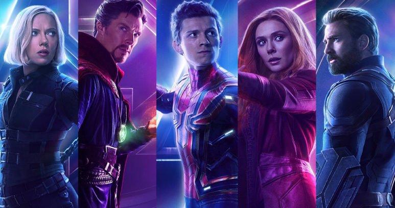 Постеры героев фильма Marvel Мстители: Война Бесконечности