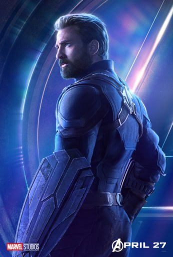 Постер Мстители: Война Бесконечности - Капитан Америка