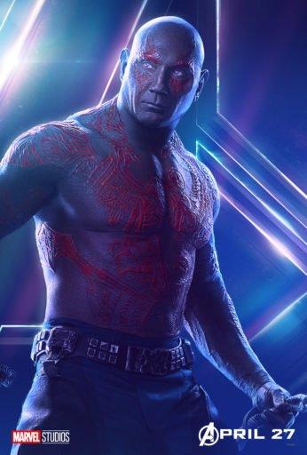 Постер Мстители: Война Бесконечности - Дракс Разрушитель