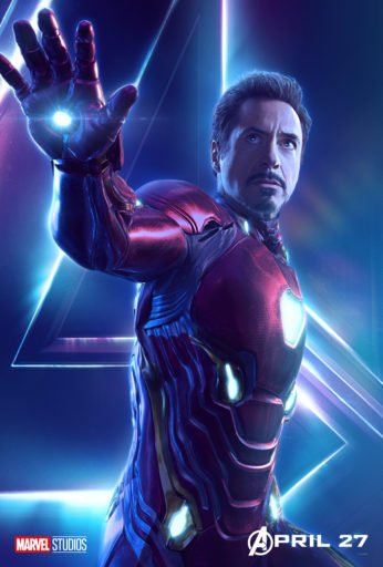Постер Мстители: Война Бесконечности - Железный Человек