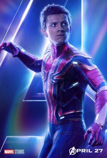 Постер Мстители: Война Бесконечности - Человек-Паук