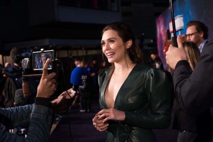 LONDON, ENGLAND - APRIL 08:  Elizabeth Olson attends the UK Fan Event to celebrate the release of Marvel Studios' 'Avengers: Infinity War' at The London Television Centre on April 8, 2018 in London, England.  (Photo by Gareth Cattermole/Gareth Cattermole/Getty Images for Disney)
