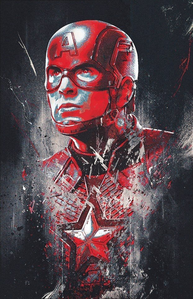 Мстители: Финал промо-арт Капитан Америка