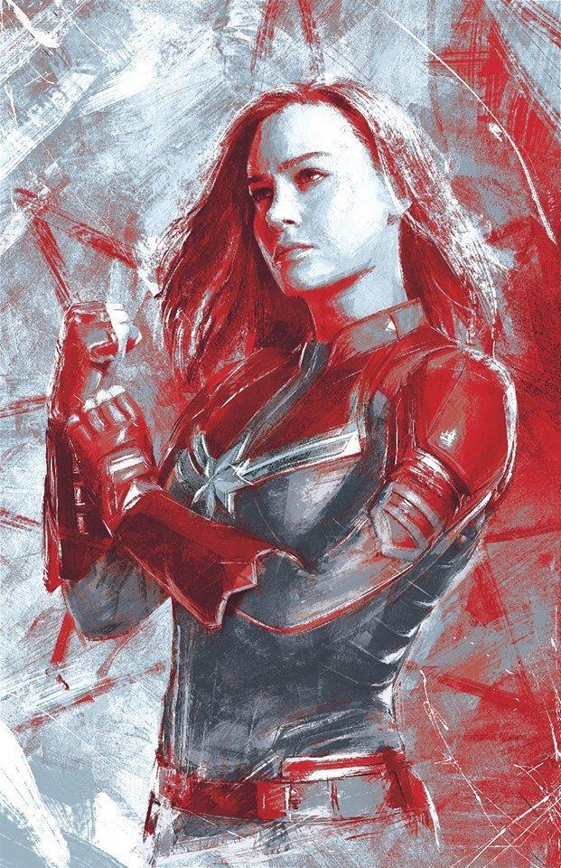 Мстители: Финал промо-арт Капитан Марвел