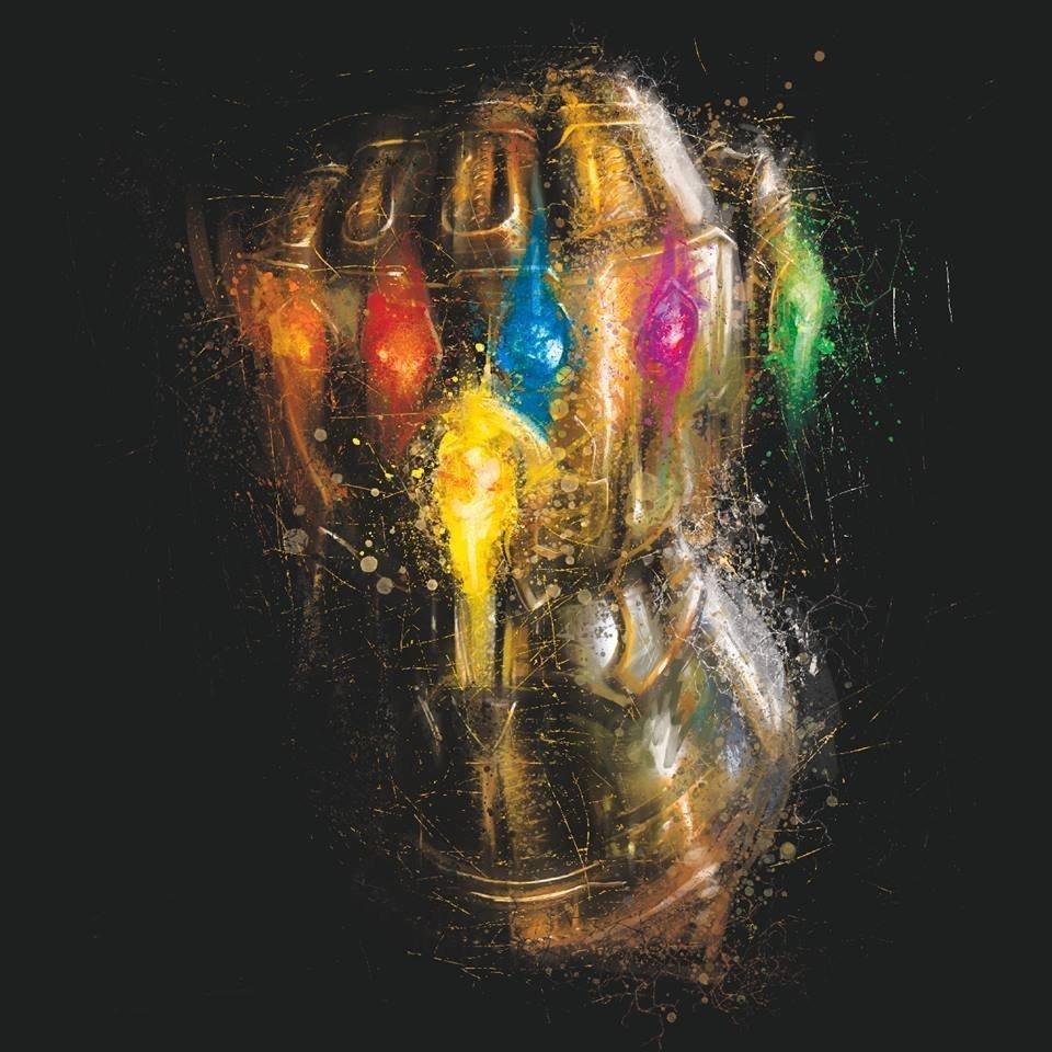 Мстители: Финал промо-арт Перчатка Бесконечности