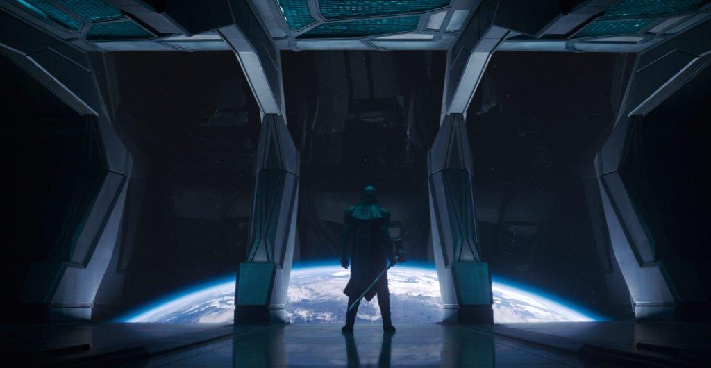 Ронан (Ли Пейс) кадр из фильма Капитан Марвел 2019