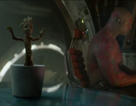 сцена после титров стражи галактики танцующий грут