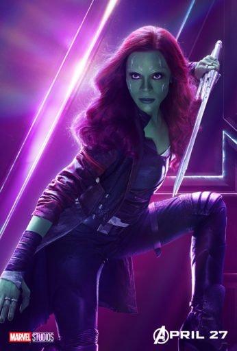 Постер Мстители: Война Бесконечности - Гамора