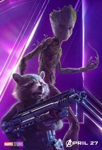Постер Мстители: Война Бесконечности - Енот Ракета и Грут