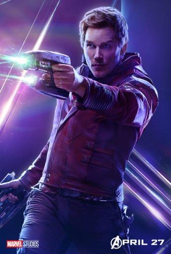 Постер Мстители: Война Бесконечности - Звездный Лорд