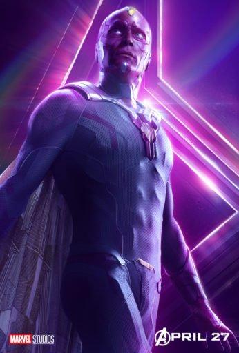 Постер Мстители: Война Бесконечности - Вижен