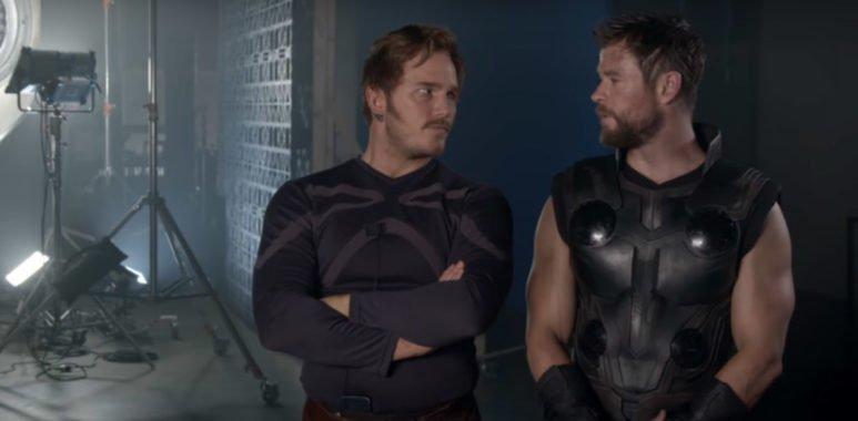 Видео со съемок Войны Бесконечности от Marvel Россия