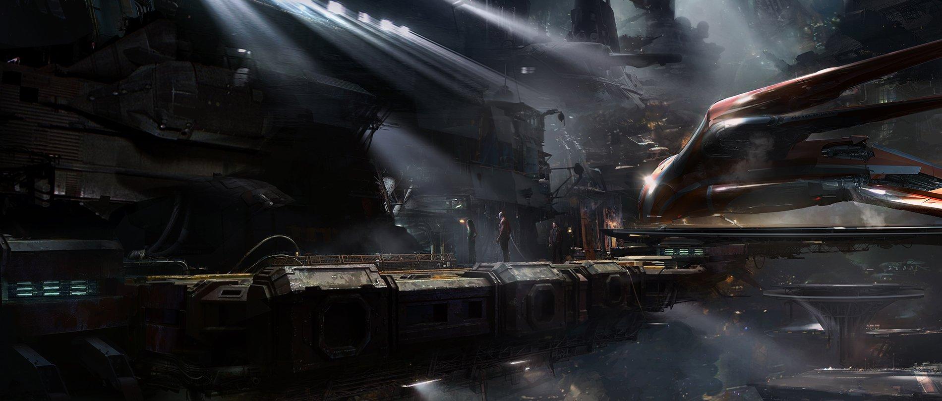Концепт-арт Войны Бесконечности: Knowere loading bay by Pete Thompson