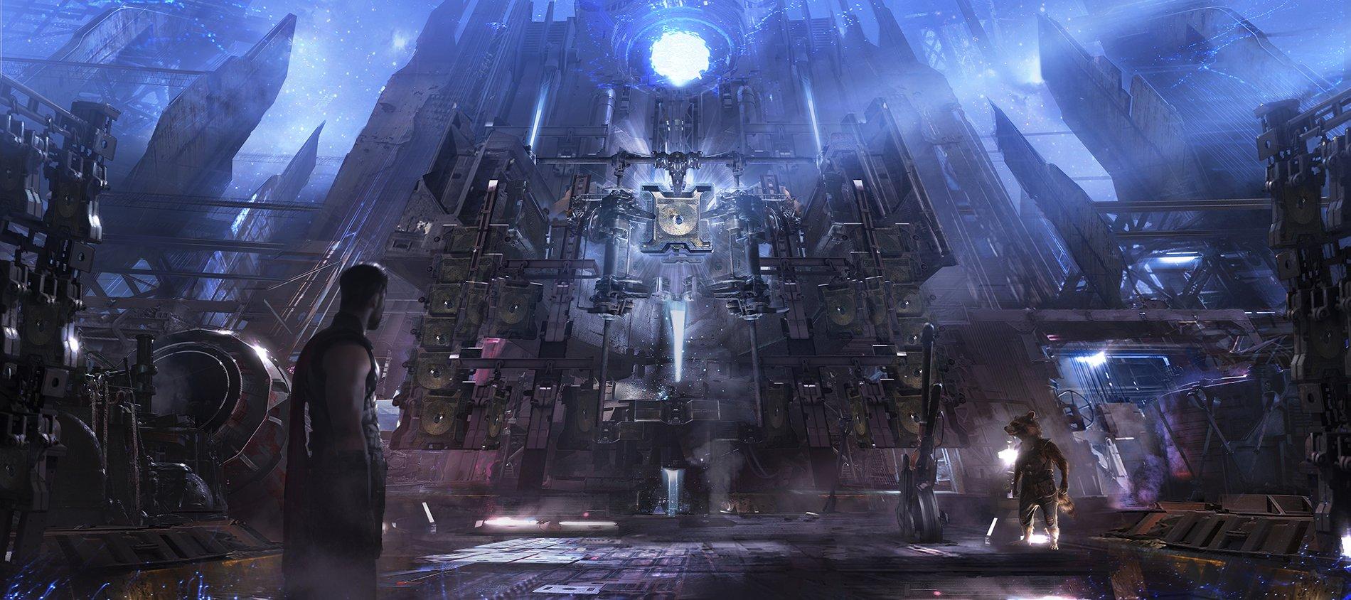 Концепт-арт Войны Бесконечности: Nidavellir furnace post-production by Pete Thompson