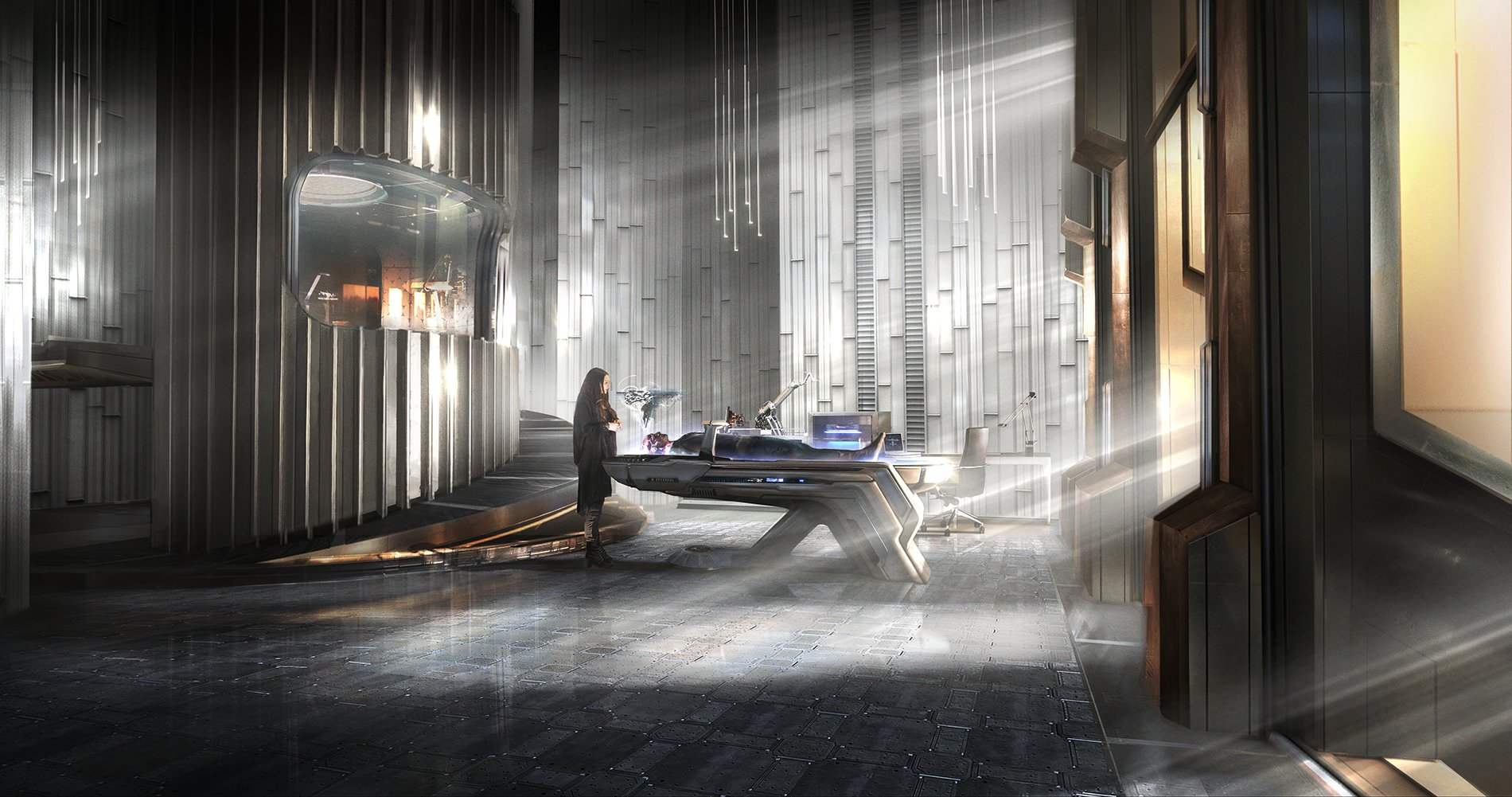 Концепт-арт Войны Бесконечности: Shuris Lab by Pete Thompson