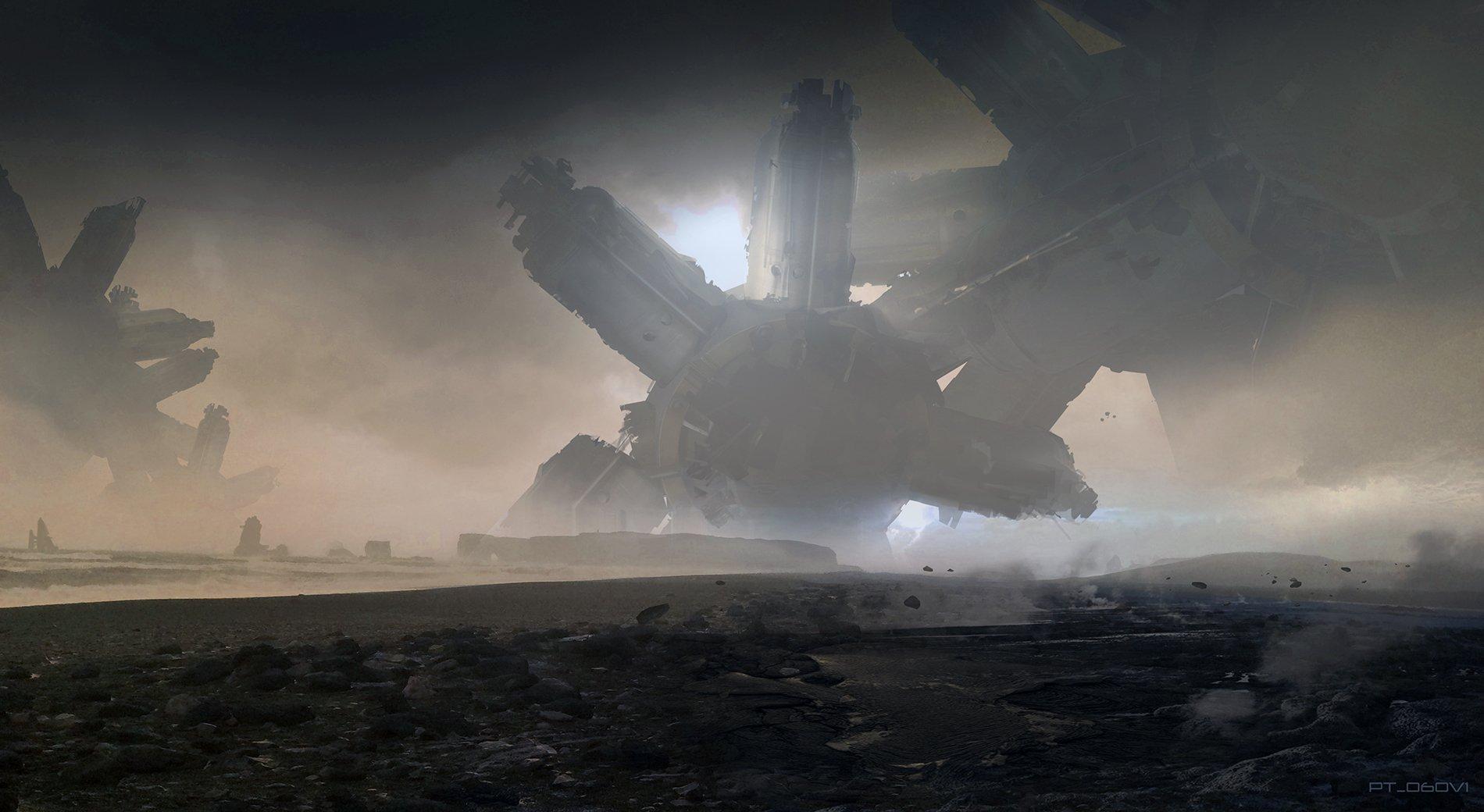 Концепт-арт Войны Бесконечности: Titan by Pete Thompson