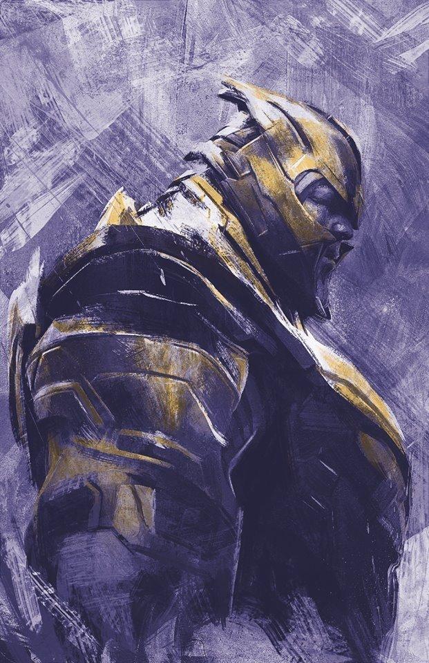 Мстители: Финал промо-арт Танос