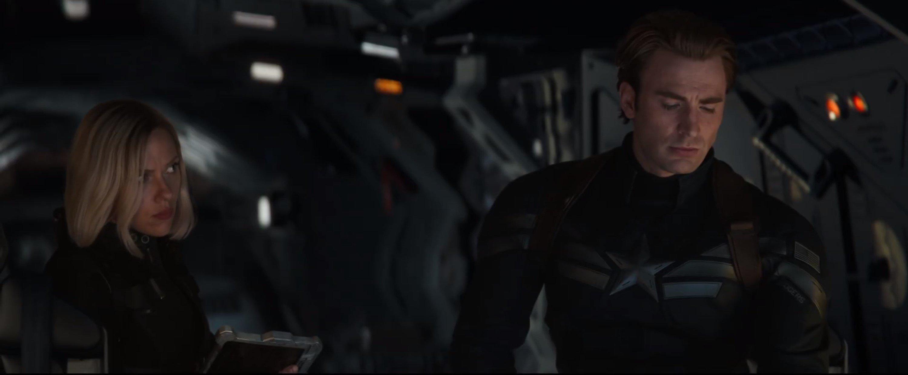 Мстители: Финал. Капитан Америка и Черная Вдова