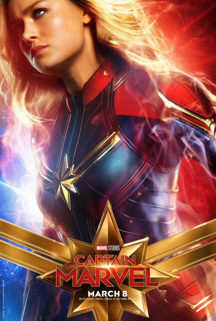 Капитан Марвел персонажный постер Капитан Марвел