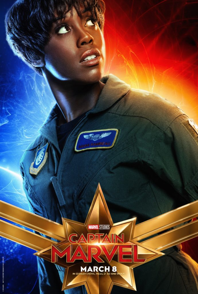 Мария Рамбо персонажный постер Капитан Марвел