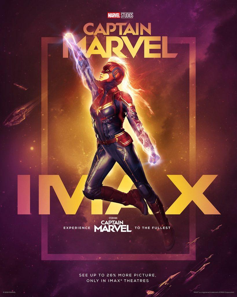 IMAX промо постер Капитан Марвел