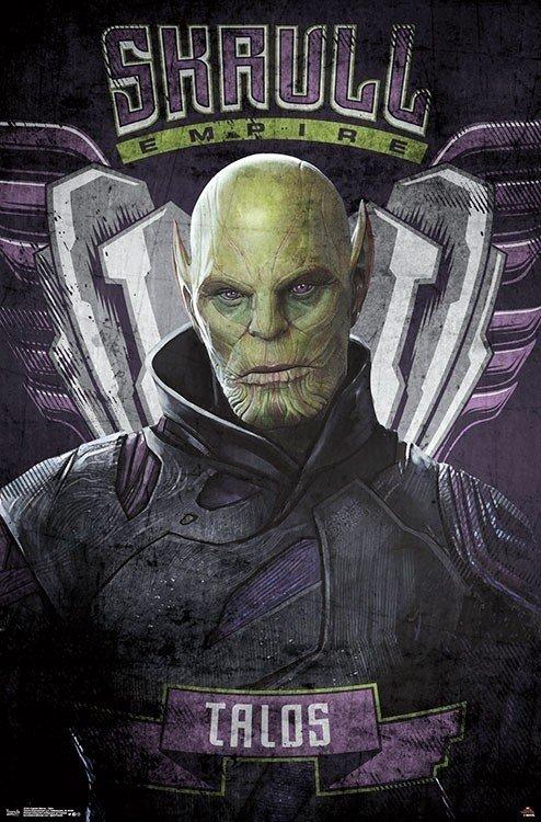 Талос промо постер Капитан Марвел
