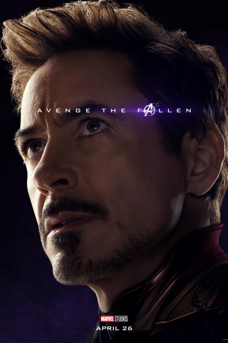 Тони Старк - Железный Человек Персонажный постер фильма Мстители: Финал