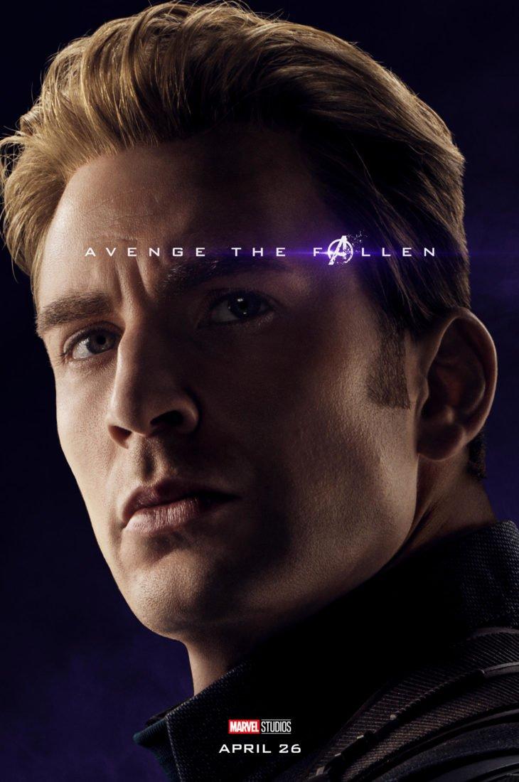 Стив Роджерс - Капитан Америка Персонажный постер фильма Мстители: Финал