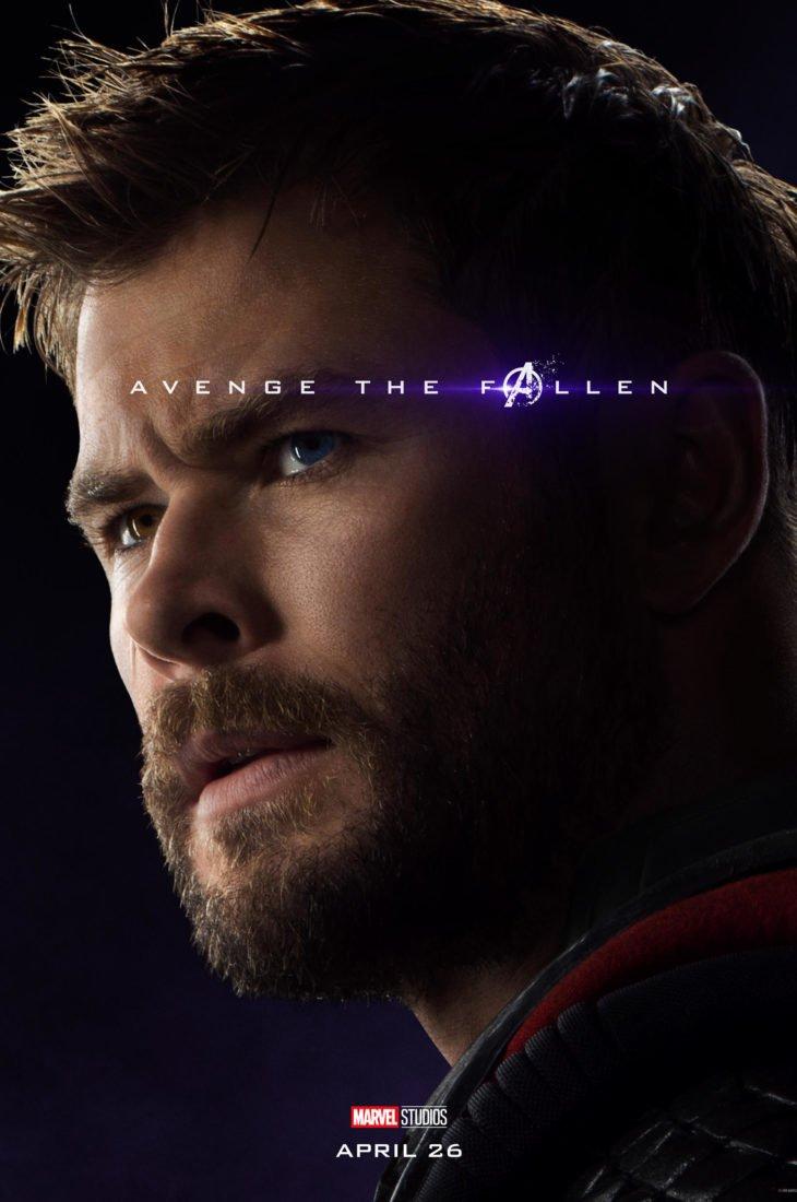 Тор Персонажный постер фильма Мстители: Финал