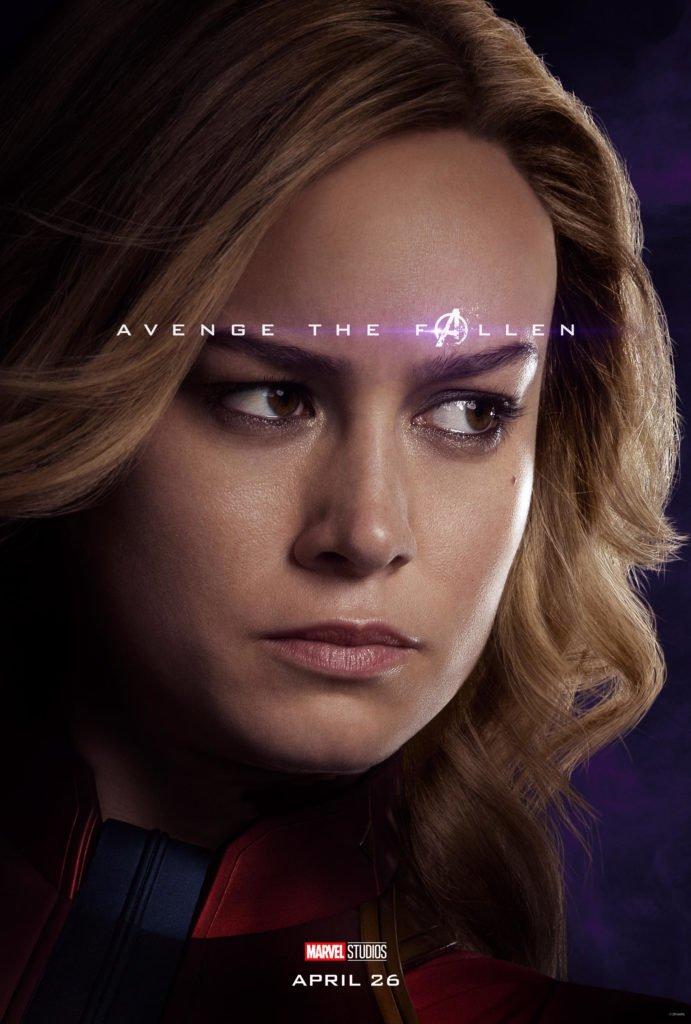 Кэрол Дэнверс - Капитан Марвел Персонажный постер фильма Мстители: Финал