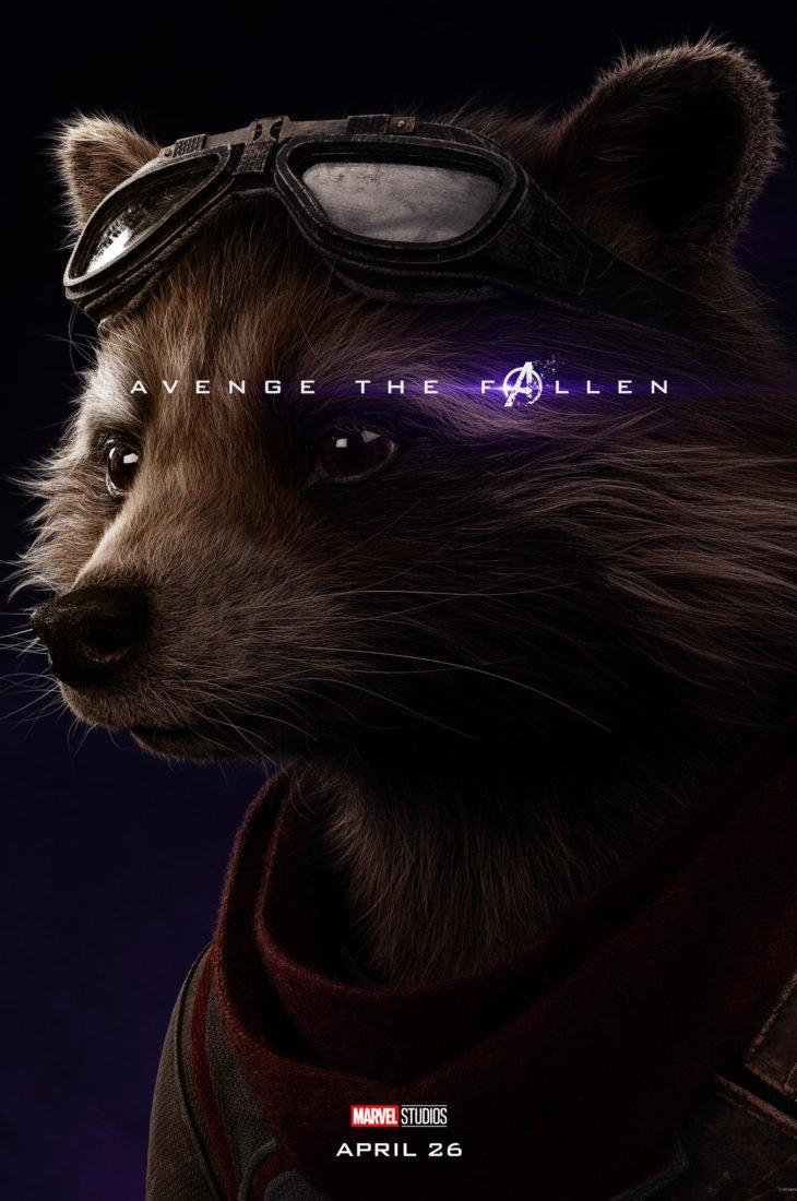 Ракета Персонажный постер фильма Мстители: Финал