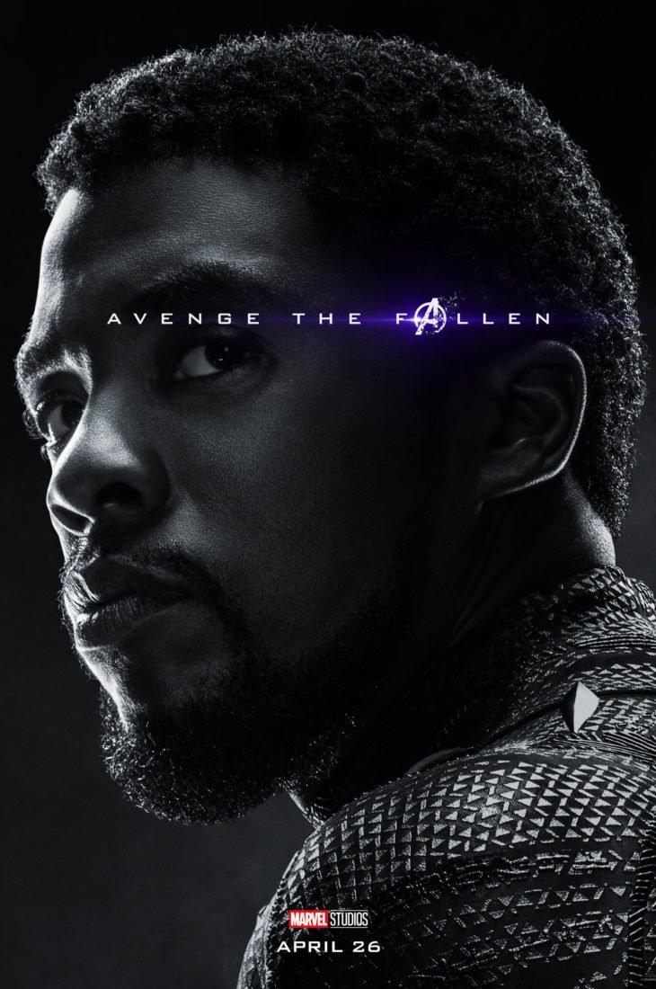 Т'Чалла - Черная Пантера Персонажный постер фильма Мстители: Финал
