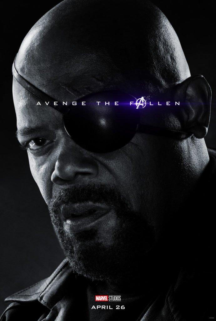 Ник Фьюри Персонажный постер фильма Мстители: Финал