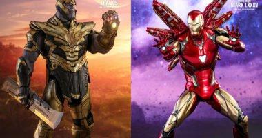 Танос и Железный Человек Марк 85 Hot Toys Мстители: Финал